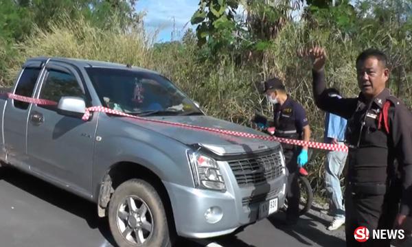ผัวขับรถไล่ชนเมีย คลั่งบีบคอให้ตาย ก่อนผูกคอตัวเองตาม