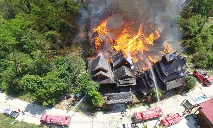 ไฟไหม้บ้านทรงไทยพญาไม้ วอดกว่า 100 ล้าน