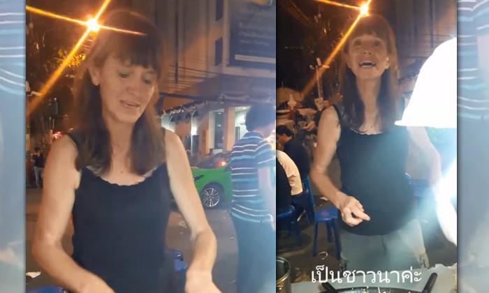 กำลังดัง สาวลอนดอนขายผัดไทย ปกติเป็นชาวนาอยู่อีสาน