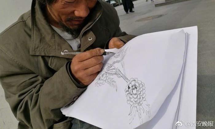 สวยใช่ย่อย! คนไร้บ้านฝึกวาดภาพเอง คนขอซื้อปฏิเสธไม่ขาย