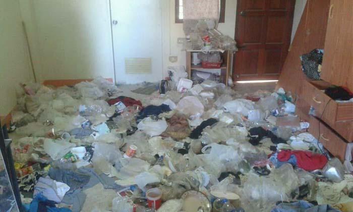 เจ้าของหอผงะ นศ.หญิงเก็บขยะไว้ 4 ปี จนล้นห้องพัก
