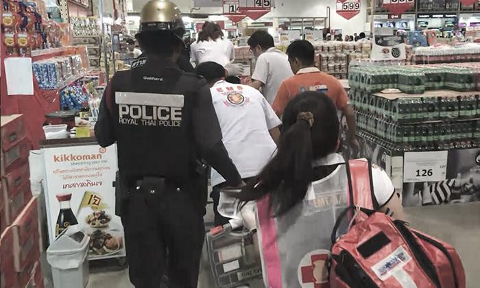 จ่าทหาร ยิงภรรยาท้องแก่ดับ ในห้างกลางเมือง ก่อนปืนลั่นใส่อกตัวเองสาหัส