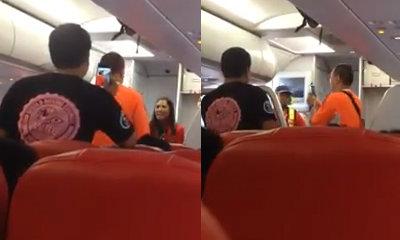 วุ่นทั้งลำ! ผู้โดยสารด่าแอร์ฯ ฉุนถูกเชิญลงจากเครื่อง