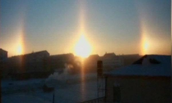 เกิดปรากฏการณ์พระอาทิตย์ 3 ดวง เหนือท้องฟ้ามองโกเลีย