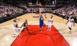 โกลเดนสเตท ชนะ พอร์ตแลนด์ นำ 3-1 ซีรีส์ บาส NBA