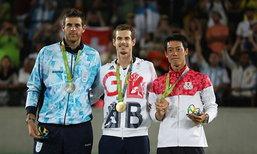"""คนแรกของโลก! """"เมอร์เรย์"""" อัด """"เดล โปโตร"""" ซิวทองโอลิมปิก 2 สมัยซ้อน"""