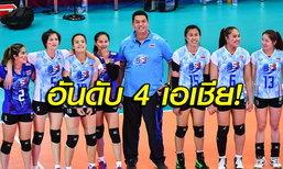 """""""นักตบสาวไทย"""" รักษาอันดับแน่น, จีนขยับเบอร์ 1 โลก FIVB"""
