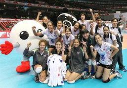 รวมภาพวอลเลย์บอลสาวไทยศึกปรีโอลิมปิค