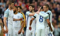 """""""เดโฟ, วาร์ดี้"""" คนละตุง! """"อังกฤษ"""" เชือด """"ลิธัวเนีย"""" 2-0 นำฝูงกลุ่มเอฟ (คลิป)"""