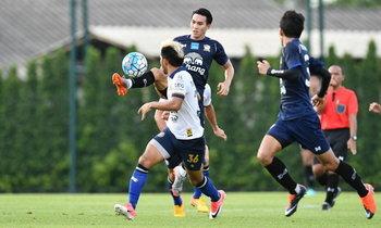 """ฟอร์มเฉียบ! """"โค้ชมิโล"""" นำ """"ทีมชาติไทย"""" อุ่นเครื่องชนะ """"ระยอง เอฟซี"""" 5-0"""