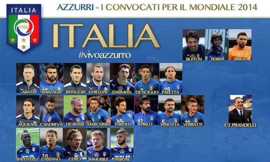 อิตาลีตัดเหลือ23คนแล้วพร้อมลุยบอลโลก