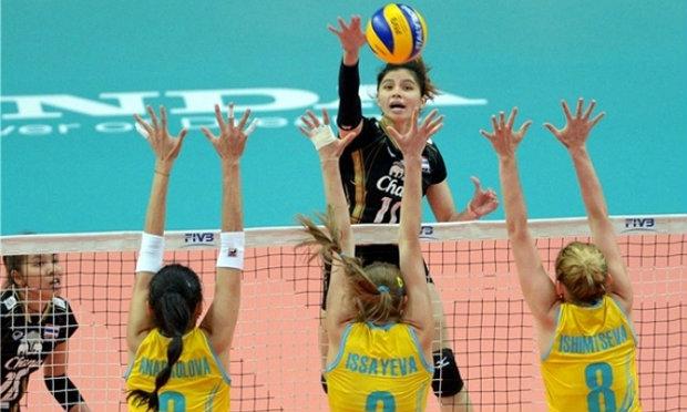 โบกมือลา! สาวไทยทิ้งทวนพ่ายคาซัคฯ 0-3 ตบชิงแชมป์โลก