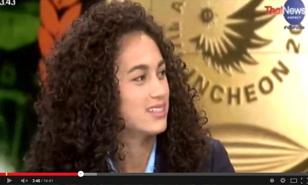 คลิป อแมนด้า เว้าอีสาน ผ่านรายการ พระรามเก้าข่าวเช้า