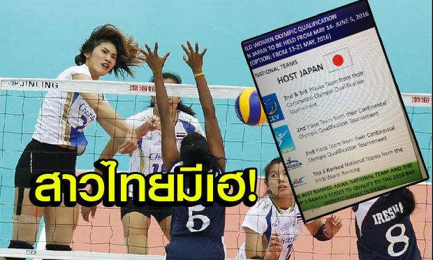 """ตบสาวไทยเฮ! """"เอฟไอวีบี"""" ยันใช้ 3 ทีมเอเชียอันดับโลกดีสุด คัดเลือกอลป.2016"""