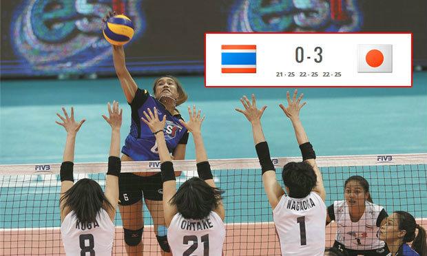 """เต็มที่แล้ว! """"ตบสาวไทย"""" สู้สุดฤทธิ์ก่อนพ่าย """"ญี่ปุ่น"""" 0-3 ศึกเวิลด์ กรังด์ปรีซ์"""